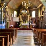 Wnętrze kościoła w Iwanowicach