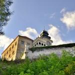Fragment wieży zamku w Pieskowej Skale